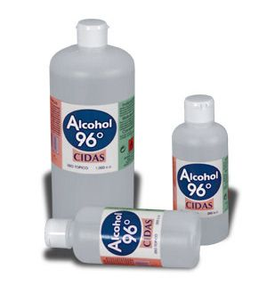 ALCOHOL SANITARIO 96% BOTELLA 1 L.