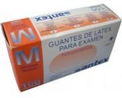 GUANTE LATEX C/POLVO T/M. 100 UD