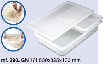 HARINERO C/TAPA PLASTICO 52x32 CM
