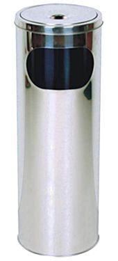 CENICERO PAPELERA INOX EXTERIOR 58x20 CM