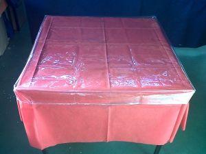 CUBREMANTEL PVC AJUSTABLE TRANSPARENTE  80x80 CM