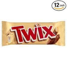 CHOCOLATINA TWIX 50 GR. CAJA 25 UDES.