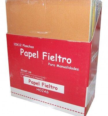 PAPEL FIELTRO 50x60cm. P.10 C0LORES