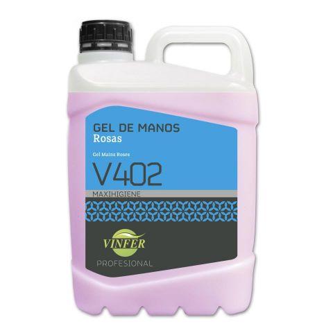 GEL DE MANOS ROSAS V402 5 L.